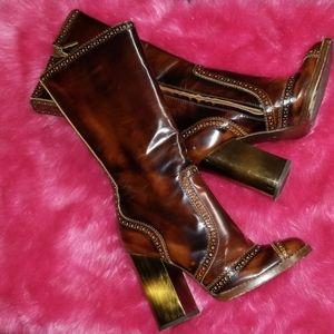 Dolce & Gabbana Shoes - DOLCE & GABANNA LEATHER BOOTS